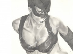 Wallpapers Art - Painting Catwoman