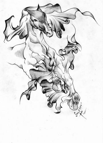 Fonds d'écran Art - Crayon Tatouages Horse