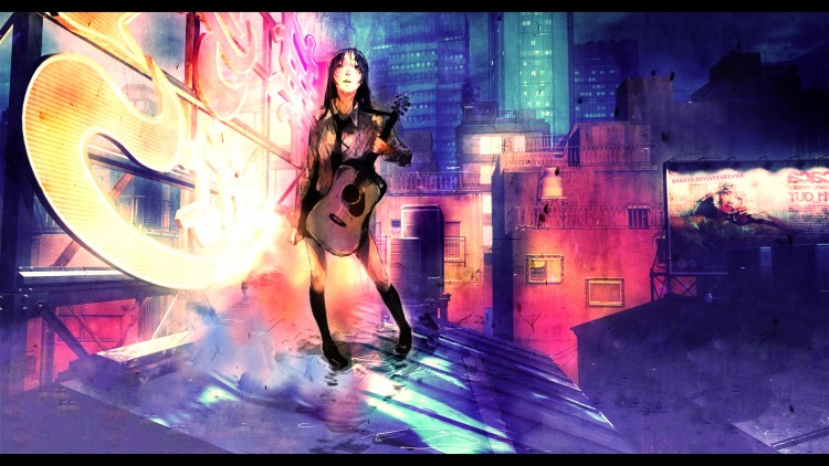 Wallpapers Digital Art Women - Femininity Night City