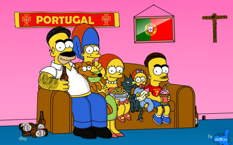 Fonds d'écran Humour Divers Simpsons Portugal by ViditOo