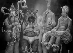 Fonds d'écran Art - Numérique Cui-Cui Groarrr Quintette