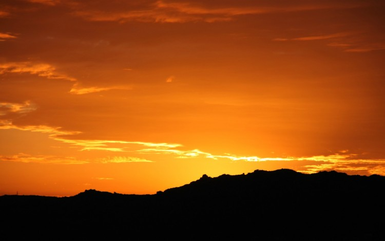 Wallpapers Nature Sunsets and sunrises Ciel orange