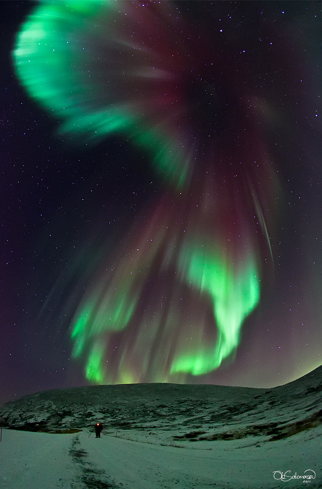 Fonds d'écran Nature Aurores Boréales Aurore boréale en Norvège