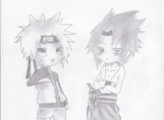Wallpapers Art - Pencil naruto et sasuke
