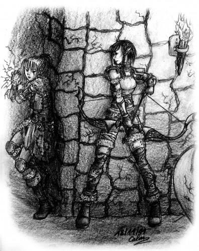Fonds d'écran Art - Crayon Fantasy - Elfes sors de ta cachette !