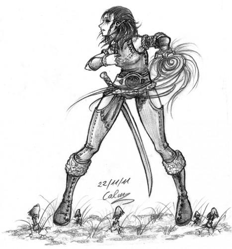 Fonds d'écran Art - Crayon Fantasy - Elfes Haut elfe, Skyrim