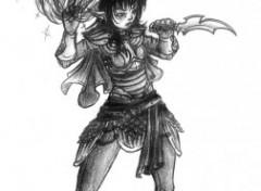 Fonds d'écran Art - Crayon Haut elfe, Skyrim (2eme essai)