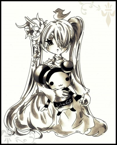 Wallpapers Art - Pencil Manga - Miscellaneous Lolita Doll