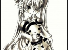 Wallpapers Art - Pencil Lolita Doll
