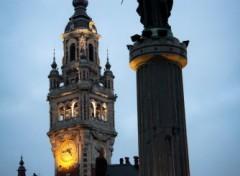 Fonds d'écran Voyages : Europe Lille sa déesse et son beffroi