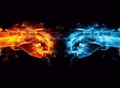 Wallpapers Digital Art Fire vs Ice