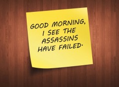 Fonds d'écran Humour Post-it assassins
