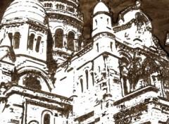 Fonds d'écran Art - Crayon basilique sacré coeur paris