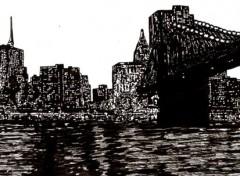 Fonds d'écran Art - Crayon New York