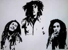 Fonds d'écran Art - Crayon bob marley