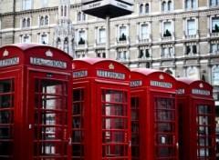 Fonds d'écran Voyages : Europe Londres Cabines téléphoniques et métro