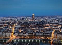 Fonds d'écran Voyages : Europe L'heure bleue sur Lyon