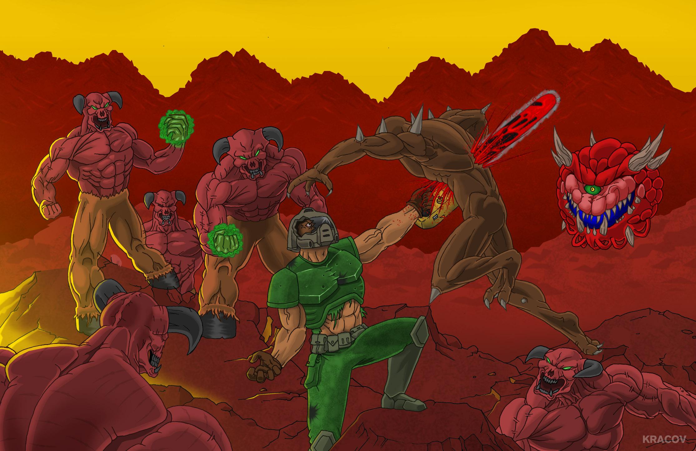 Wallpapers Digital Art Video games Doom