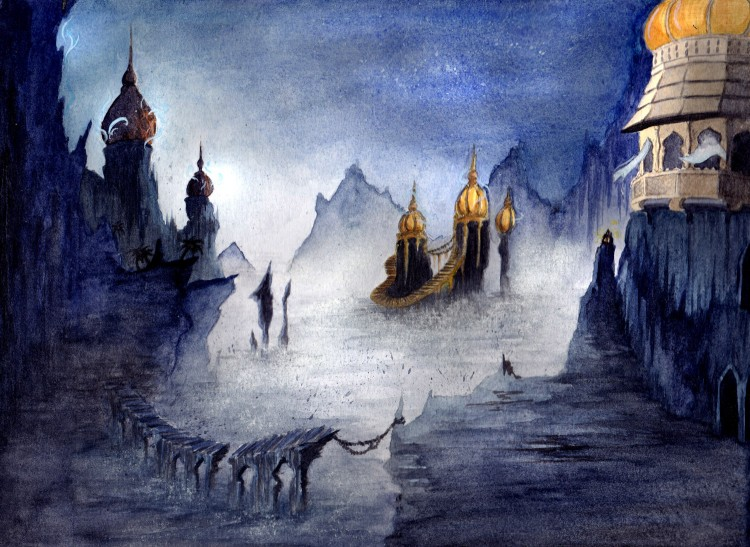 Wallpapers Art - Painting Landscapes - Misc Paysage de Prince of Persia