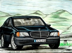 Fonds d'écran Art - Crayon Mercedes 280