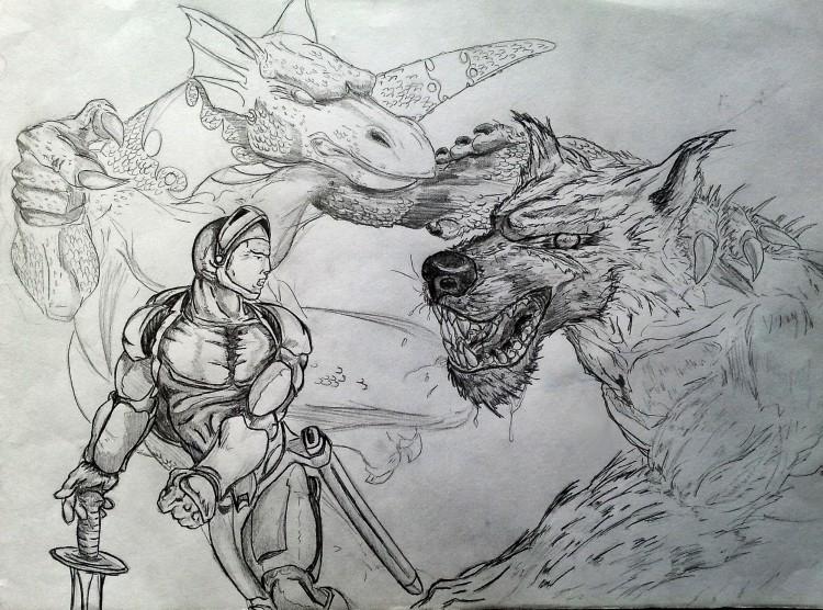 Fonds d'écran Art - Crayon Fantasy - Créatures Survie
