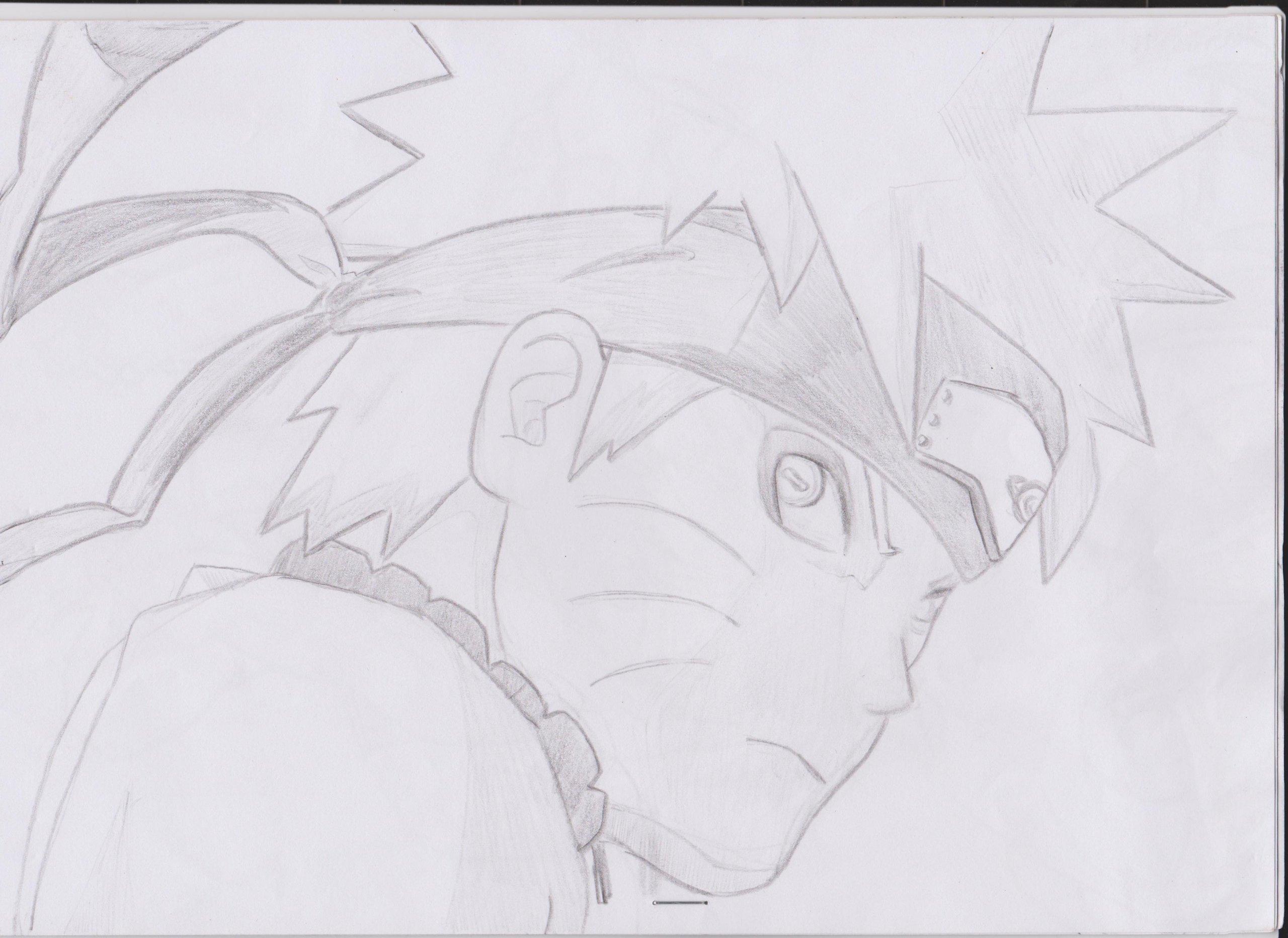 Fonds d'écran Art - Crayon Manga - Naruto naruto mode senin