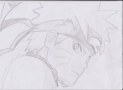 Wallpapers Art - Pencil naruto mode senin