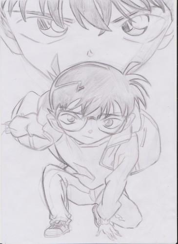 Fonds d'écran Art - Crayon Manga - Detective Conan Conan = Shinichi Kudo ^^