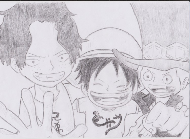 Fonds D Ecran Art Crayon Fonds D Ecran Manga One Piece Ace