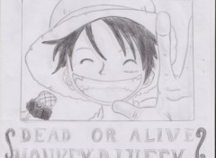 Fonds d'écran Art - Crayon wanted luffy