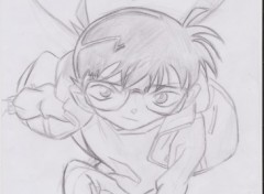 Wallpapers Art - Pencil Conan = Shinichi Kudo ^^