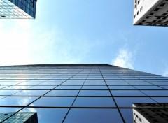 Fonds d'écran Constructions et architecture Bleu symétrique