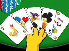 Cartoons Simpsons' Poker