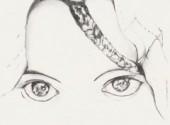 Art - Crayon Regard de femme Touareg.