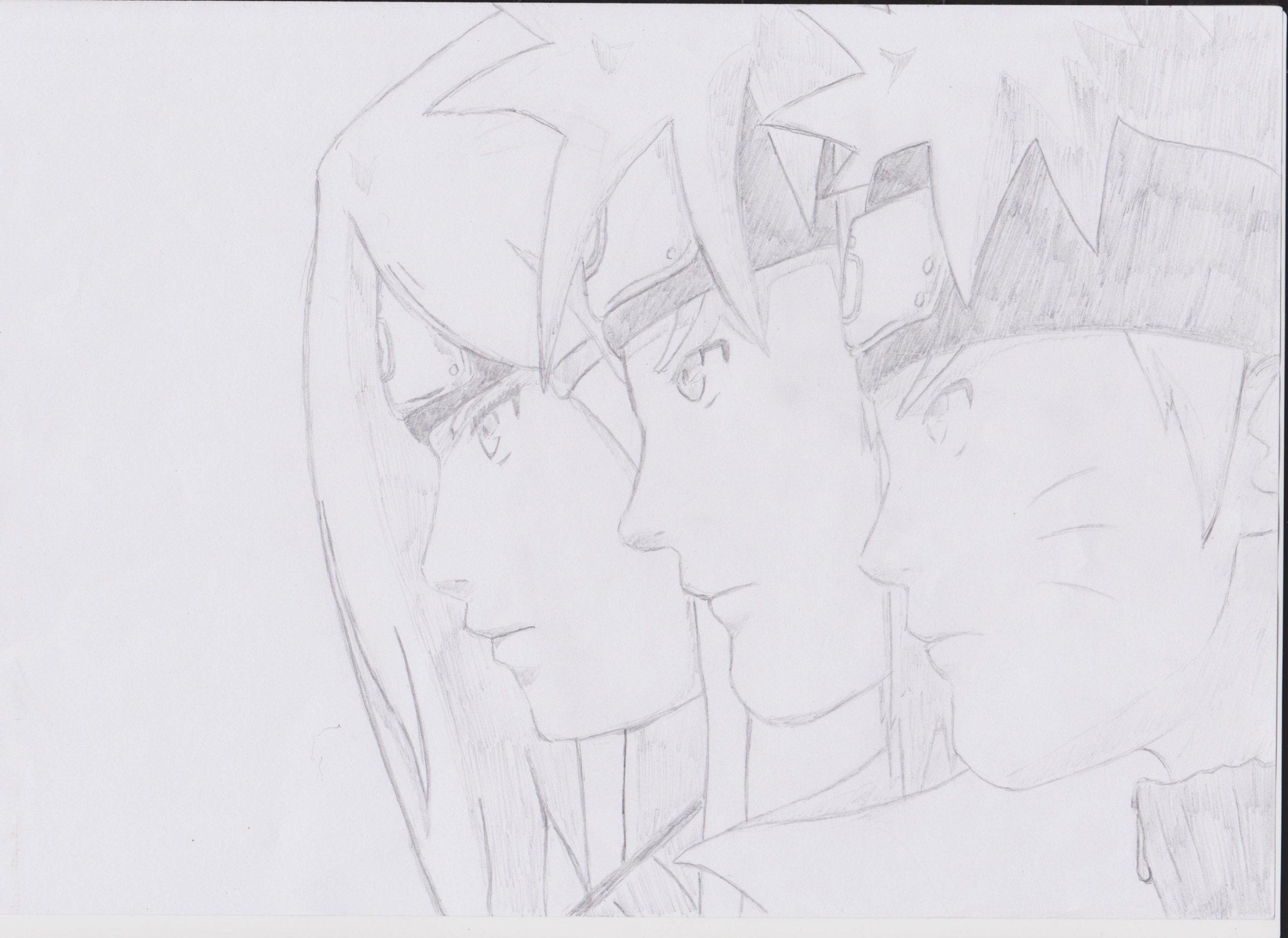 Fonds d'écran Art - Crayon Manga - Naruto naruto, minato, kushina ; Une lignée d'exception :D