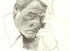 Art - Pencil Mine de Plomb : Jean Gabin