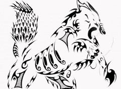 Art - Crayon Loup tribal 2