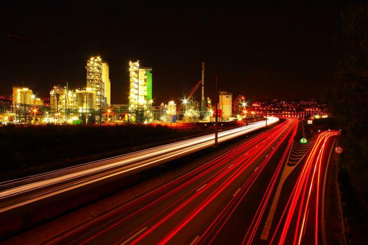 Fonds d'écran Constructions et architecture Routes - Autoroutes A7 de nuit