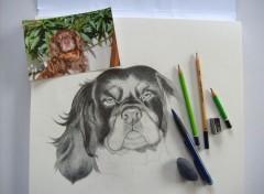 Art - Crayon Drawing in progress