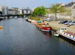 Voyages : Europe bord de l'Erdre, (Nantes) - tilt - shift