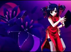 Manga Purple Eventail
