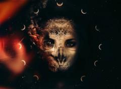 Digital Art Cosmic Owl