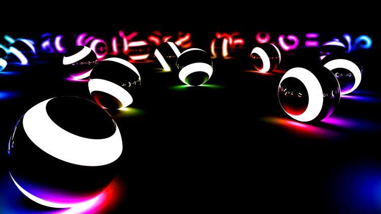 Fonds d'écran Art - Numérique 3D billard lazer