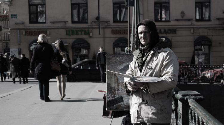 Fonds d'écran Voyages : Europe Russie Artiste de rue à St-Petersbourg