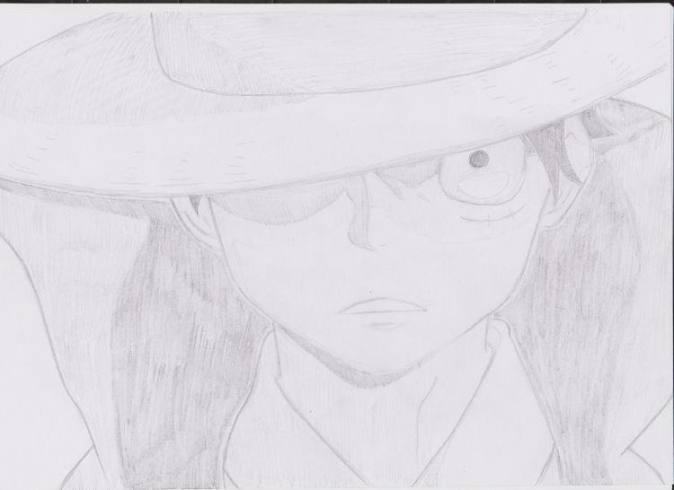 Fonds d'écran Art - Crayon Manga - One piece Monkey D Luffy