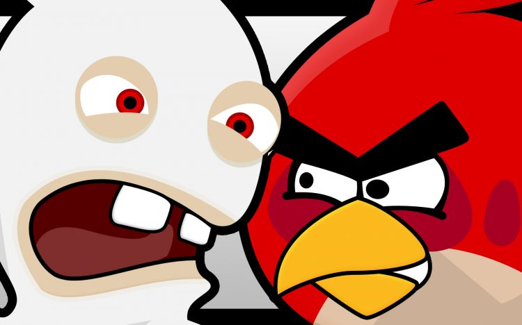 Wallpapers Video Games Wallpapers Angry Birds Lapin Crétin
