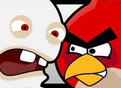 Jeux Vidéo Lapin Crétin VS Angry Bird