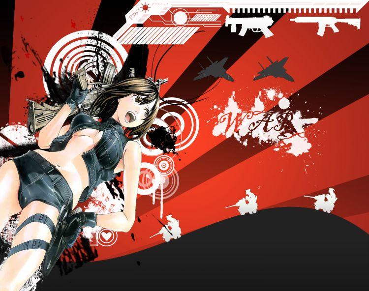 Fonds d'écran Art - Numérique Manga anime girl WAR