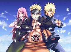 Manga Kushina, Naruto & Minato