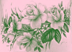 Art - Peinture les roses